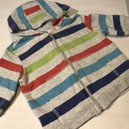 Striped Hood Jacket 3-6 Month